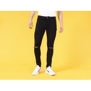 Jeans-Curazao-Rasgado-En-Rodilla-Para-Hombre-B138A
