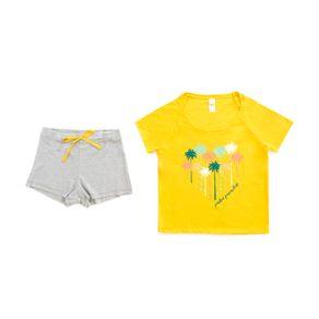 Pijama-Tops-Bottoms-Con-Short-Print-Paradise-Para-Mujer-27251