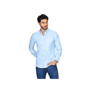 Camisa-Bobois-Casual-Slim-Fit-Con-Manga-Larga-Lisa-Para-Hombre-B11100-CIE